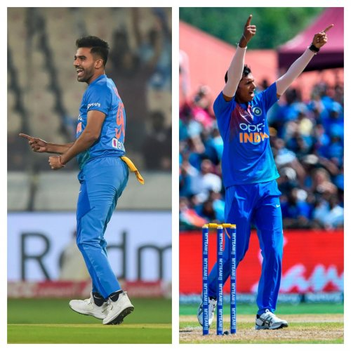 India pacer Deepak Chahar was on Thursday ruled out of the series-deciding third ODI against the West Indies owing to a back injury and replaced by Navdeep Saini. Photo credits: PTI, AFP