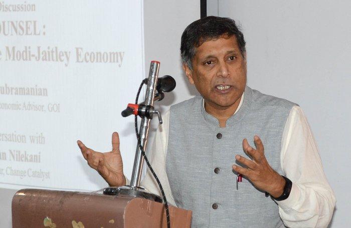 Former Chief Economic Adviser Arvind Subramanian. (DH Photo)