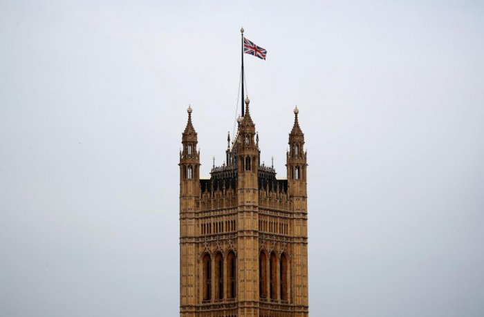A Union flag flies atop the the Victoria Tower at Britain's Houses of Parliament, incorporating the House of Lords and the House of Commons, in central London (Photo by Reuters)