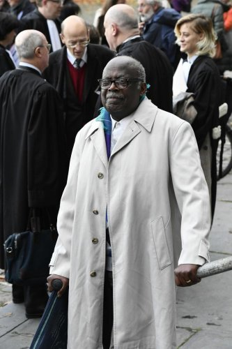 Rwandais Fabien Neretse is pictured in front of the Palace of Justice. The Assize Court of Brussels on Dec 19, found him guilty of genocide, after hearing of his role in the 1994 massacres in his country. Photo/AFP