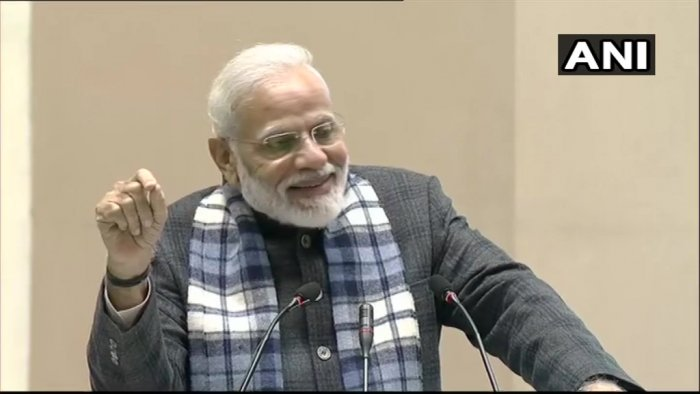 Prime Minister Narendra Modi at ASSOCHAM. (ANI Photo)
