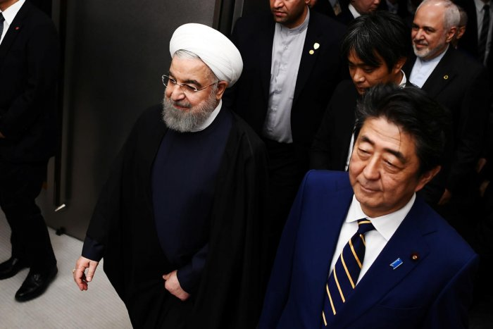 Japanese PM Abe and Iranian President Rouhani meet in Tokyo. Reuters