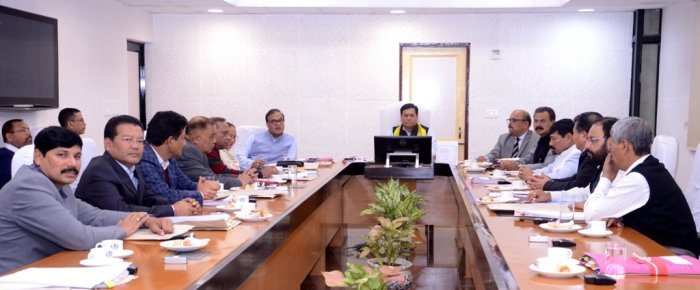 Assam governement cabinet meeting in Guwahati on Saturday. (Photo credit: Assam government)