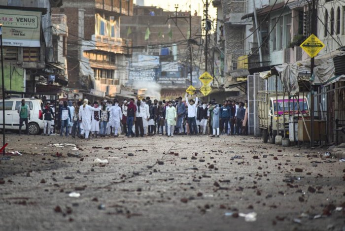 Protestors take part in a rally against the Citizenship (Amendment) Act, in Jabalpur. (PTI Photo)