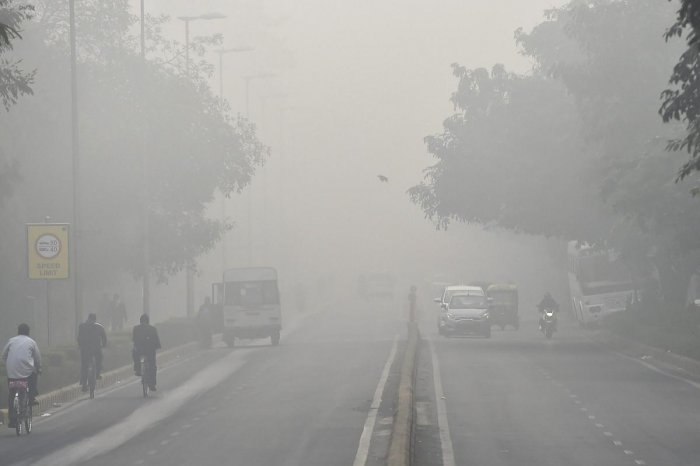 The weatherman has forecast partly cloudy skies with a possibility of moderate to dense fog on Sunday. Photo/PTI