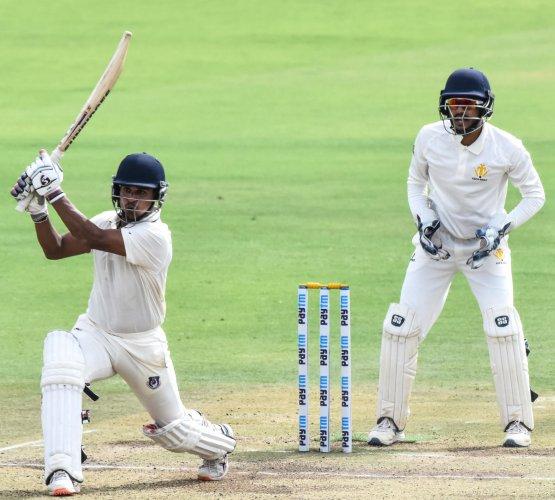 Almas Shaukat Batting batting for Uttar Pradesh Team scored a century on Friday in a match between Karnataka and Uttar Pradesh at KSCA Stadium, Hubli