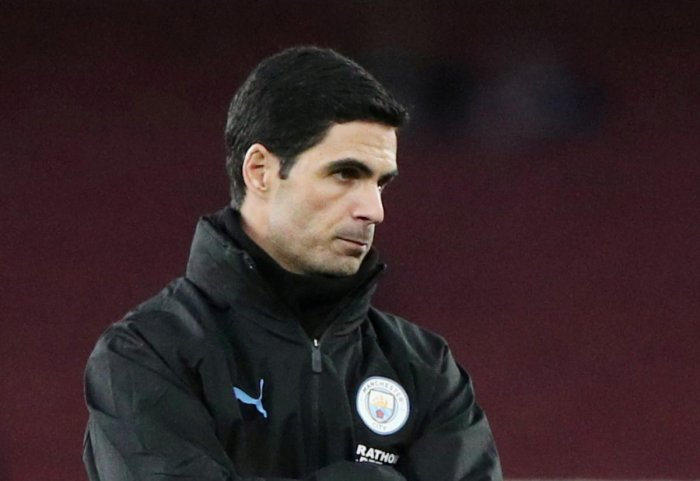 FILE PHOTO: Soccer Football - Premier League - Arsenal v Manchester City - Emirates Stadium, London, Britain - December 15, 2019 Manchester City assistant coach Mikel Arteta REUTERS/Hannah McKay/File Photo EDITORIAL USE ONLY. No use with unauthorized audi