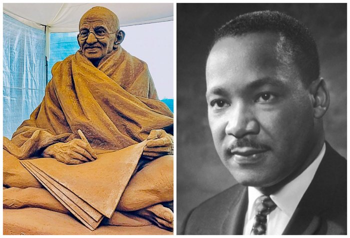 Gandhi and Martin Luther King Jr. (PTI and Wikimedia Commons Photo)