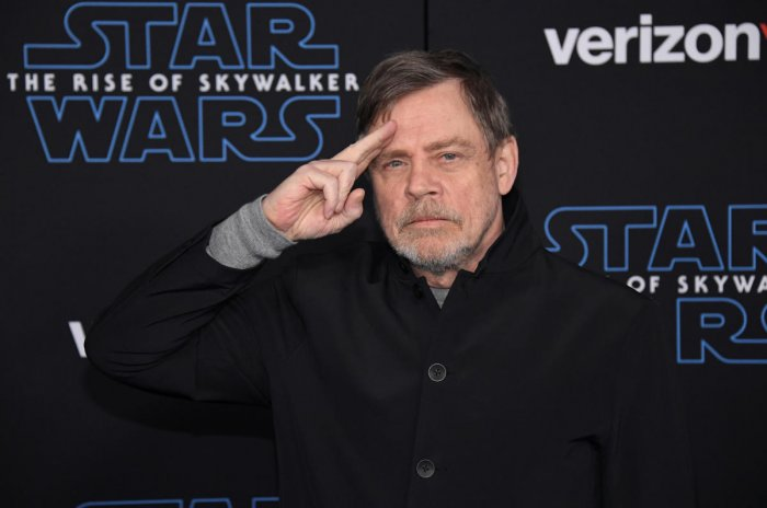"""Mark Hamil attends the premiere of """"Star Wars: The Rise of Skywalker"""" in Los Angeles"""