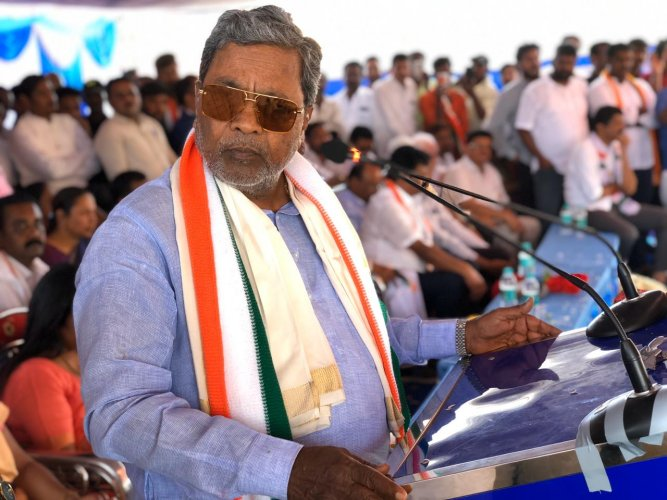 """""""A Leader of the Opposition is the shadow chief minister. What's my responsibility? Two people died in police firing and I wanted to console their families and also get details on the incident. I wasn't going there to destroy peace,"""" he said.Photo/Twitter (@siddaramaiah)"""