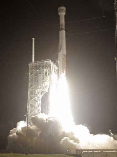 A United Launch Alliance Atlas V rocket carrying the Boeing Starliner crew capsule on an Orbital Flight Test to the International Space Station lifts off from Space Launch Complex 41 at Cape Canaveral Air Force station. (PTI file photo)