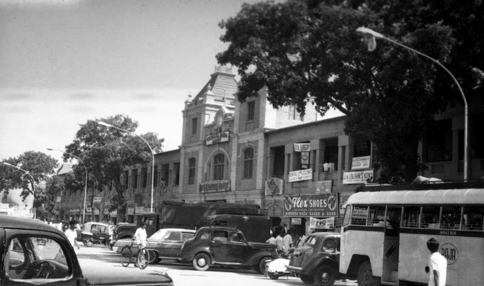 K R Market in the 1970s. (Spot the Austins).