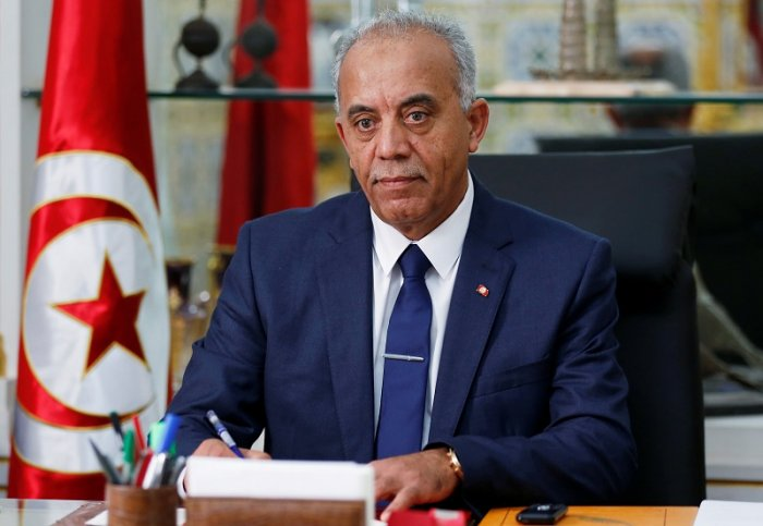 Tunisian Prime minister designate Habib Jemli poses for a picture during an interview with Reuters in Tunis. (Reuters Photo)