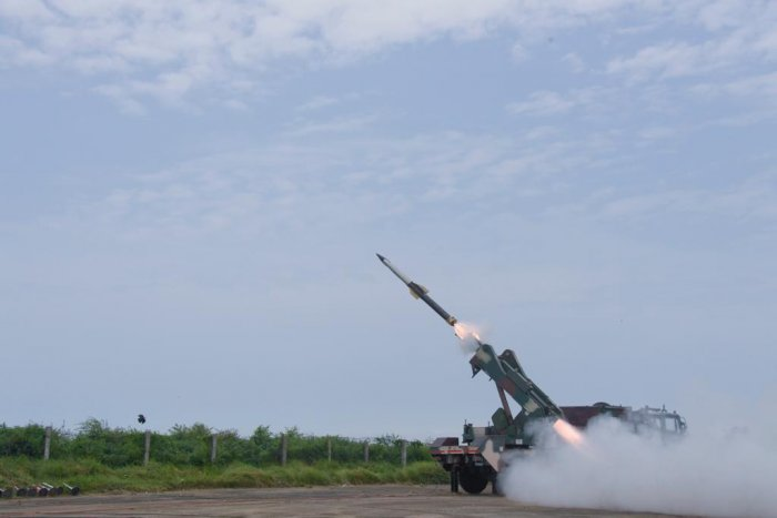 DRDO (Defence Research and Development Organisation) today successfully flight tested Quick Reaction Surface to Air Missile (QRSAM) air defence system at Balasore flight test range.