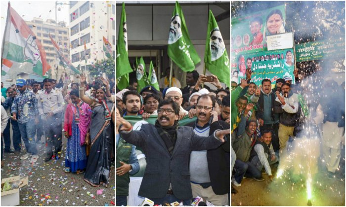 The Mahagatbandhan in Jharkhand, which has Congress, JMM (Jharkhand Mukti Morcha) and RJD as alliance partners, got a landslide in the Assembly polls after it won 47 seats out of 81 constituencies in the State here on Monday.