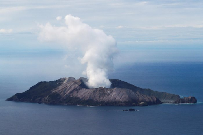 An aerial view of the Whakaari, also known as White Island volcano. (Reuters file photo)