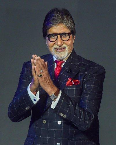 Bollywood actor Amitabh Bachchan in Mumbai. (PTI Photo)