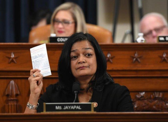 Democratic Representative Pramila Jayapal. (AFP Photo)