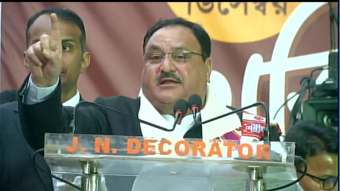 Nadda said the amended law grants citizenship, does not take it away, as claimed by a section of people. ANI/Twitter