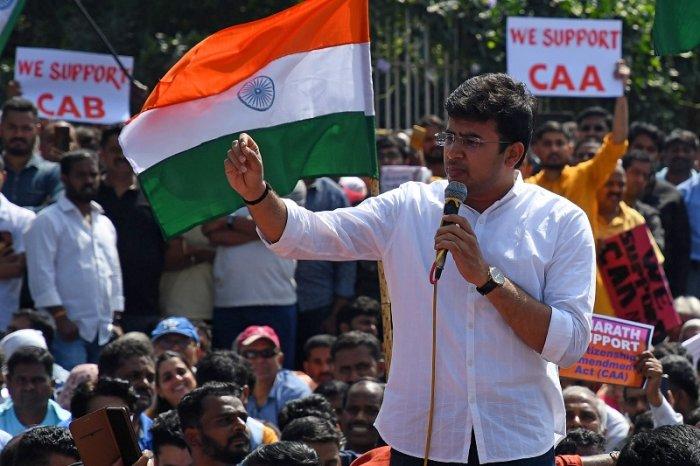 Parliamentarian from Bangalore South Tejasvi Surya. (DH Photo)