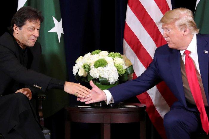 US President Donald Trump with Pakistan's Prime Minister Imran Khan. (Reuters file Photo)