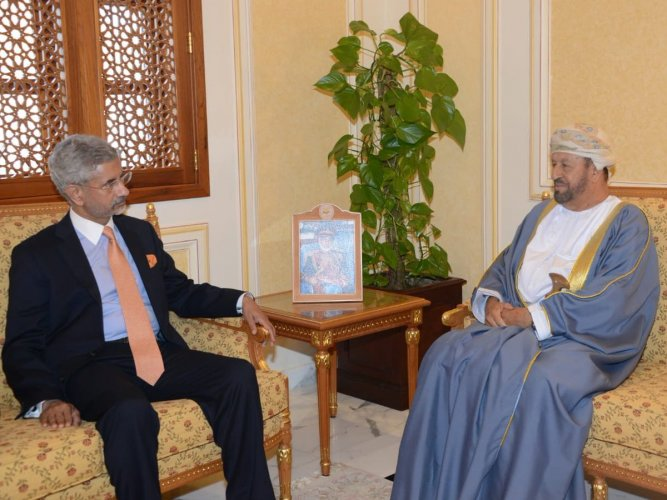 "Jaishankar tweeted that he had a ""fruitful"" discussion with the Omani defence minister during which the two countries reaffirmed their commitment to further expand ""robust"" defence, security and maritime ties. Photo: Twitter/S Jaishankar"