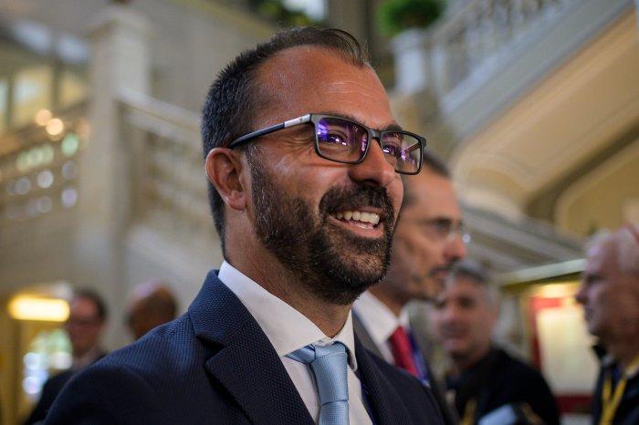 Italian Education Minister Lorenzo Fioramonti. (AFP Photo)