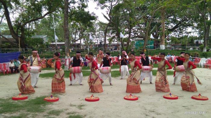 Indigenous Muslims performing Bihu in Assam. (File photo)