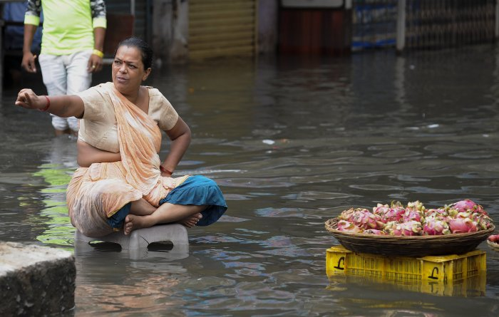 According to an official, illegal constructions on water streams were the main cause of deluge in the city. (PTI Photo)