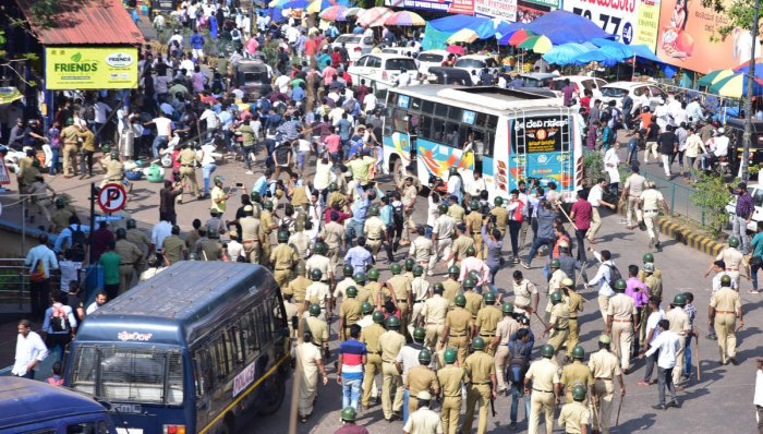 Two persons were killed after police opened fire during a protest against the Citizenship (Amendment) Act, in Mangaluru on December 19. DH File Photo