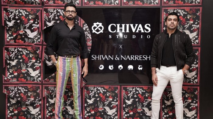 Designers Shivan and Narresh at the Chivas Studio.