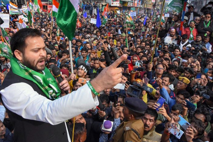 He also aimed a jibe at Bihar Chief Minister and JD(U) national president Nitish Kumar over his many volt-faces in the recent past, saying Jharkhand has witnessed political instability since its inception because on most occasions, unlike the present one, people have given a fractured mandate. Photo/PTI