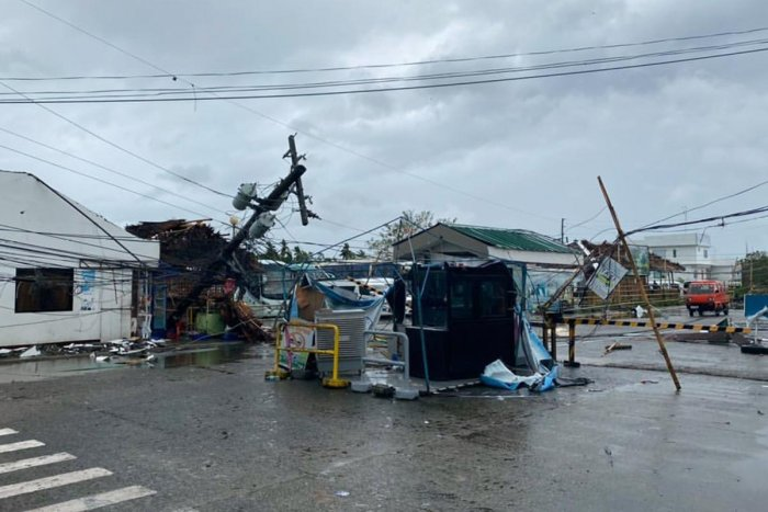 At least 16 people were killed in villages and towns in the Visayas, the central third of the Philippines, according to disaster agency officials. Photo/AFP