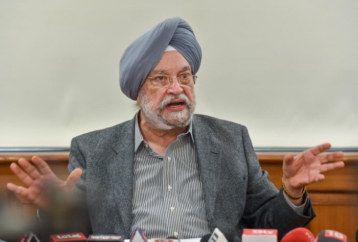 Housing and Urban Affairs Minister Hardeep Singh Puri. (PTI photo)