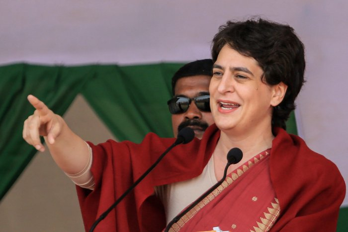 All India Congress Committee (AICC) General Secretary Priyanka Gandhi. (PTI Photo)