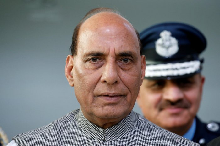 Defence Minister Rajnath Singh. (Reuters photo)