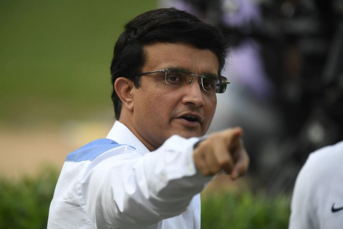 The president of the Board of Control for Cricket in India (BCCI) Sourav Ganguly. (AFP photo)