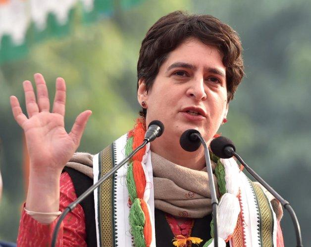 AICC general secretary Priyanka Gandhi Vadra. (PTI photo)