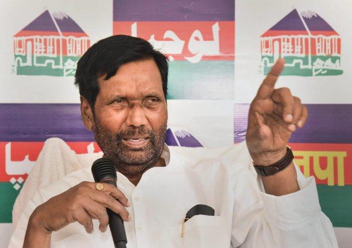 Union Minister and Lok Janshakti Party (LJP) chief Ram Vilas Paswan. (PTI Photo)