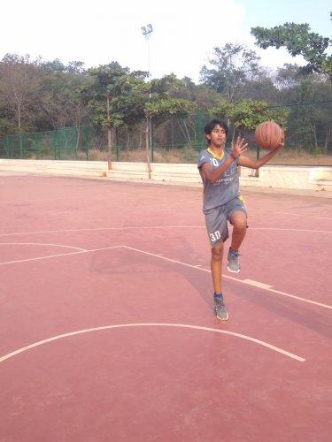 DYES Vidyanagar's Sanjana N Kumar wants to make a career in basketball in future.