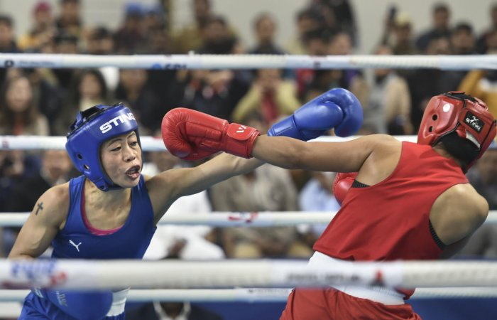 Mary Kom prevailed 9-1 to make the squad. Photo/PTI