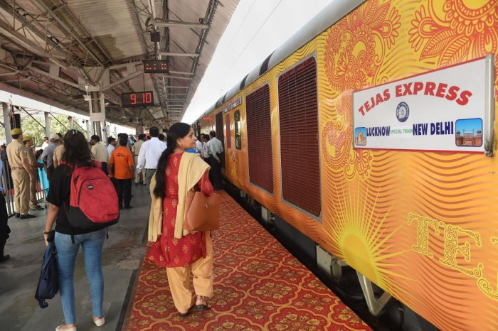 The first such private train is operational on the Delhi-Lucknow route. PTI file photo