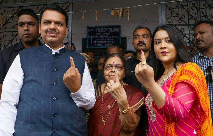 Devendra Fadnavis' wife Amruta Fadnavis. (PTI Photo)
