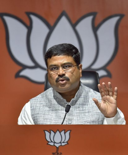 """""""We should make sure that only those who are ready to say Bharat Mata Ki Jai can live here,"""" the BJP leader said.Photo/PTI"""