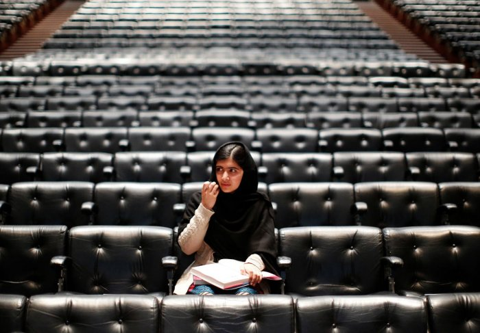 Malala, daughter of Ziauddin Yousafzai, spoke against the world most dangerous terrorist organisation through her blogs on the BBC Urdu website under the pseudonym Gul Makai, against the oppression faced by them in Swat Valley, Pakistan. (Photo by Reuters