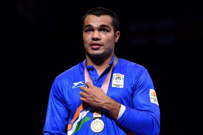 Gold medallist India's Vikas Krishan. (AFP Photo)