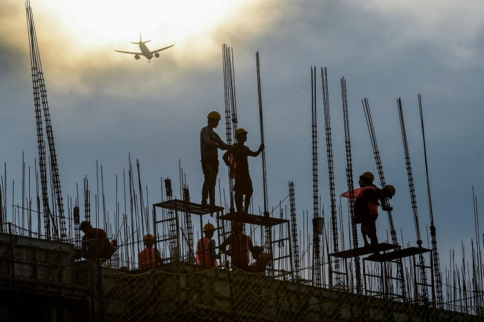Long-term growth, on the other hand, will mainly be driven by the country's massive population, which requires continued investments into the residential building construction sector, the statement said. Photo/PTI