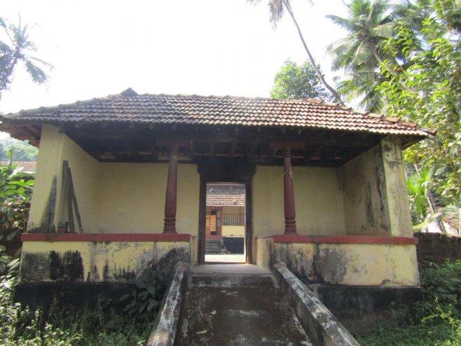 The moola mutt of Pejawar Mutt at Pejawar near Surathkal.