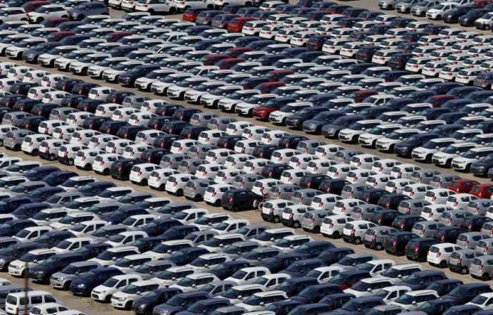 Cars at the Maruti Suzuki plant in Manesar. Picture credit: Reuters