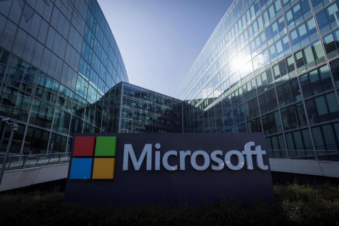 The US technology giant said on Monday that a federal court allowed it to take control of 50 domains operated by a group dubbed Thallium, which tricked online users by fraudulently using Microsoft brands and trademarks. Photo/AFP